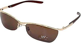オラオラ系 サングラス メンズ UV ちょいワル系 眼鏡 メガネ 男性用 リームレス型