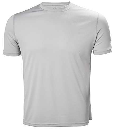 Helly Hansen HH Tech Tee Chemise Sport à Manches Courtes Homme Light Grey FR : S (Taille Fabricant : S)