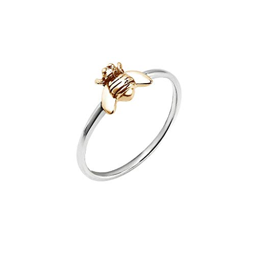 JESMING Simple Tiny Silver Plated Ring Stacking Rings Bee Ring   Rings for Women