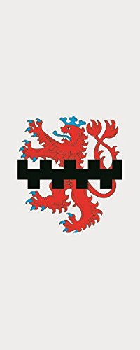 U24 Fahne Flagge Leverkusen im Hochformat Premiumqualität 80 x 200 cm