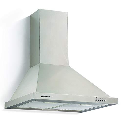 Orbegozo DS 48160 B IN - Campana extractora, 60 cm, extracción 630 m3/h, 3 niveles de potencia, motor de 190 W, Voltaje: 230 V / 50 Hz
