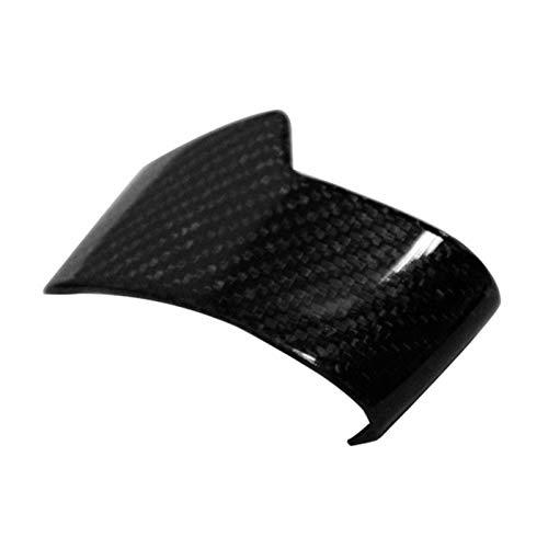 BXSAUISA Cubierta de la Perilla de Cambio de Engranaje Fibra de Carbono Etiqueta engomada del automóvil con molduras de molduras a Mano Izquierda. Solo Ajuste para Touareg 2019 (Color Name : Black)