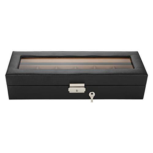 Yivibe Caja del reloj, caja del reloj, vitrina del reloj para guardar los relojes personales que muestran la caja en la tienda de relojes