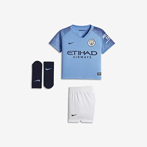 NIKE MCFC I NK BRT Kit HM - Conjunto equipación Manchester City 18/19, Bebé, Azul(Field Blue/Midnight Navy)
