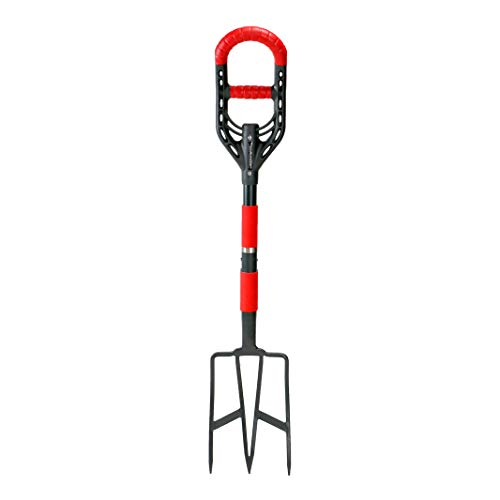 Roamwild Multi-Digger Garden Digging Spading Fork – Fibreglass Light Weight Gardening with Unique Dual Soft AIR Light Grip Technology & Soil Lump Cutting Bladed Tines (Fork)