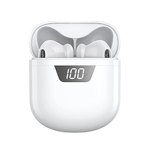 Auriculares Inalambricos Cascos Bluetooth Inalambricos Auriculares Deportivos con IPX6 Impermeable, Caja de Carga Portátil Reproducci 25 Horas In-Ear Auriculares