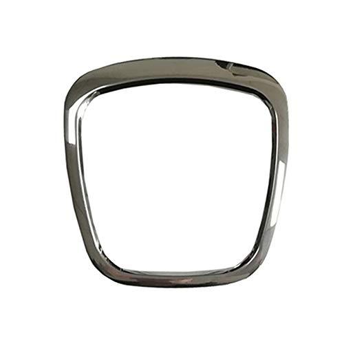 Auto Lenkrad Kleber Aufkleber Logo Emblem Trimmen Rahmen Auto Zubehör Zum A4 B8 B6 A5 A6 C5 C6 Q5 Q7, Chrom Rot Silber (Silber Aufkleber auf Airbag)
