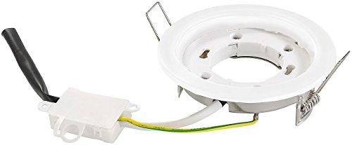 Luminea Lampensockel: GX53-Einbaufassung, weiß (Einbau Lampenfassung)