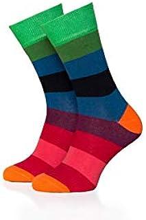 Remember, Calcetines para mujer modelo 01 con rayas y coloridos en talla 36-41 | Se pueden lavar a máquina | Comodidad: suaves, cálidos y superelásticos, perfecto para la temporada de frío