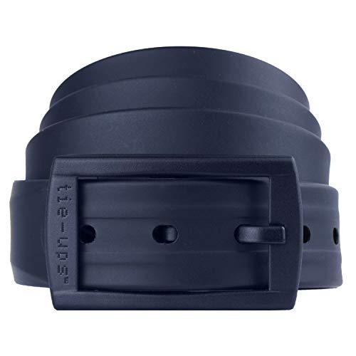tie-ups Cintura in Gomma con Fibbia in Plastica | Nickel Free - Nessun Metallo | Cintura Uomo e Donna | Colore Ocean Blu