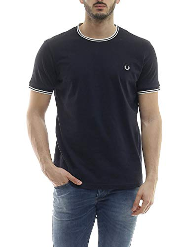 Fred Perry T-Shirt Uomo M1588 BLU