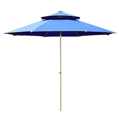 Sombrilla Parasol para Jardin Terraza 2,3 M / 8 Pies Sombrilla De Patio/Capota De Repuesto con 8 Varillas Y Manivela, Sombrillas De Mesa De Mercado Redondas para Mesa De Altura De Bar, Terraza Y BIST