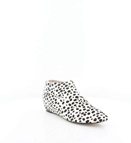 Avec Les Filles Womens Beatrice Calf Hair Ankle Booties B/W 7.5 Medium (B,M)