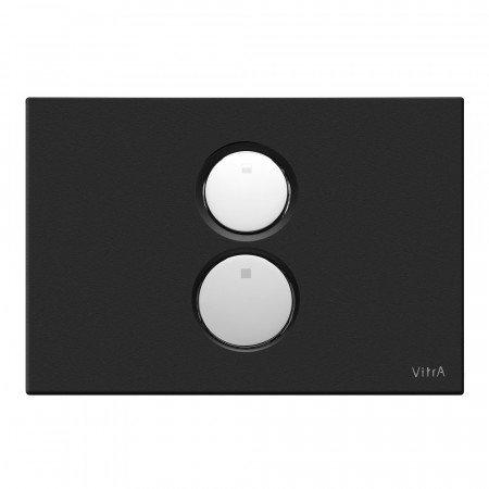Vitra Twin O - Plato doble empotrado (negro mate)