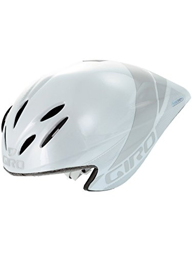 Giro Advantage Zeitfahrhelm Triathlon Bahnrad Fahrradhelm Helm Gr. S (51-55cm) weiß-Silber