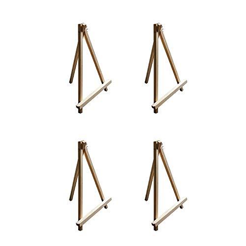 4 teiliges Kunst Staffelei Set aus Holz jeweils 30cm - Tischoberfläche Stativ Staffelei Set zur Schaustellung von Kunstleinwänden - faltbar für einfache Lagerung - Malen, Wasserfarben&Acrylmalerei