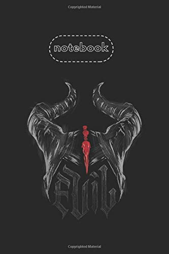 Notebook: Disney Maleficent Mistress Of Evil Horns Sketch Design Cover Arts College Ruled Line Notebook Gifts Black Cover Ruled Line Notebook Journal Size 6in x 9in x 125 Pages Write in Take Note
