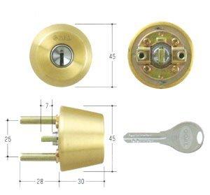 GOAL(ゴール) V18シリンダー TXタイプ 鍵 交換 取替え テール刻印28 GCY-230 TX/TDDゴールド色28〜31mm(テール刻印28)