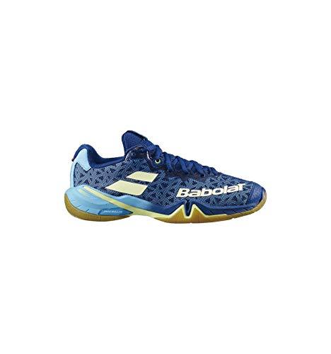 Babolat Shadow Tour Damen blau/gelb Badmintonschuh Hallenschuh 2020 Topmodell extrem Gute Dämpfung und Halt (41)