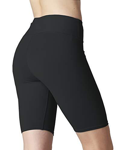 Harewom Stretch-Biker-Shorts für Damen, Jogger, Yoga, Fitnessstudio, Training, Sommer, Spandex, kurze Leggings - Schwarz - X-Groß
