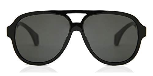 Gafas de Sol Gucci GG0463S Black/Grey Green Hombre