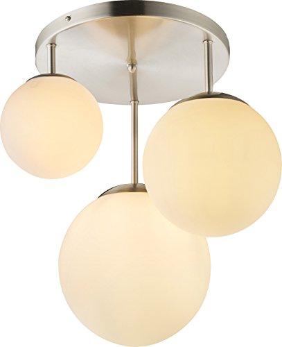 Hängelampe mit 3 Kugeln Glas Hängeleuchte Pendelleuchte Esszimmerlampe (Pendellampe, Wohnzimmerlampe, 47 x 44 cm Kugel-Lampe)