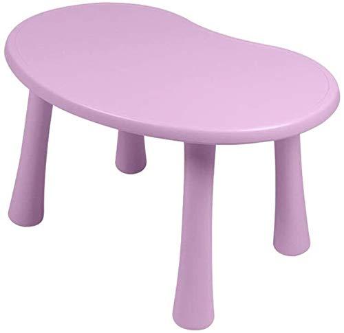 Lage tafel Kinderen bureau en een stoel Set Childrens Kids Nursery houten speeltafel, Baby die leert Table Kindergarten tekentafel Writing Table, gebruik binnenshuis (Kleur: Blauw, Maat: 56x81x49cm)