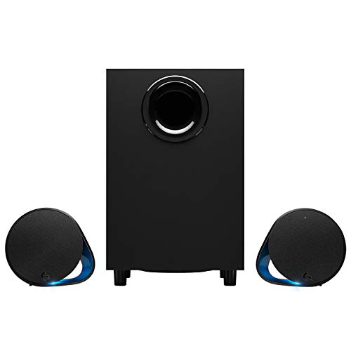 Logitech G560 2.1 Sistema di Altoparlanti Gaming, Lightsync, 7.1 DTS: X Surround Sound, 240 ‎Watt, Illuminazione RGB, Bluetooth Wireless, 3.5 mm e Porta USB, ‎PC/Mac/Lettore Musicale/Smartphone/Tablet