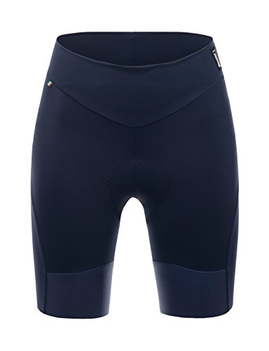 Santini - Pantaloncini da Ciclismo da Donna Alba PRO Grace Pad, Donna, Pantaloncini MTB, CAS3280L, Marina Militare, L