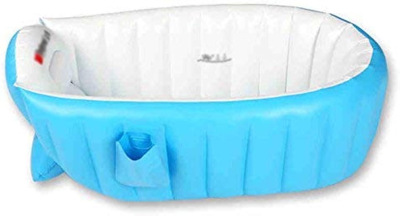 Inflatable Bath Home Aufblasbare Badewanne Duschwanne groe Dicke Isolierung tragbar kann gefaltet Werden (Farbe  blau)