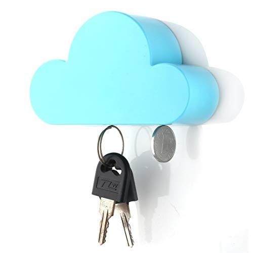 knowing Wolke Form Magnete,Schlüssel Halterung,Cloud Starke magnetische, Für Hausschlüssel Verschiedene Eisenprodukte, Blau