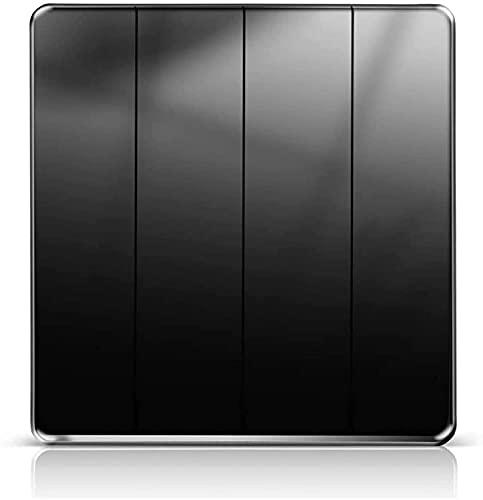 PJDOOJAE Inicio Black Switch Socket Panel Hotel 86 Vintage Black Wholk Wall Switch Switch 2.5D espejo de pantalla completa Interruptor de pared acrílico Interruptor de llave plana pura Interruptor de