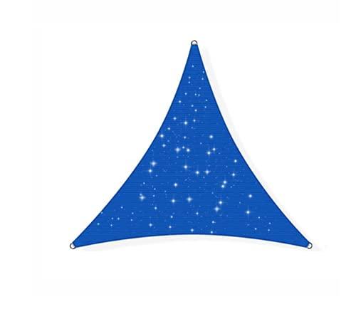 Hupocun Solarsegel mit LED-Beleuchtung, dreieckiges, warmweißes Solar-Nachtsegel. Powerkontakt Lichterkette, wetterfest und sonnenbeständig