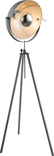 Vloerlamp Globo MIRAM 58308 cementkleuren zilver zwenkbaar 60 Watt