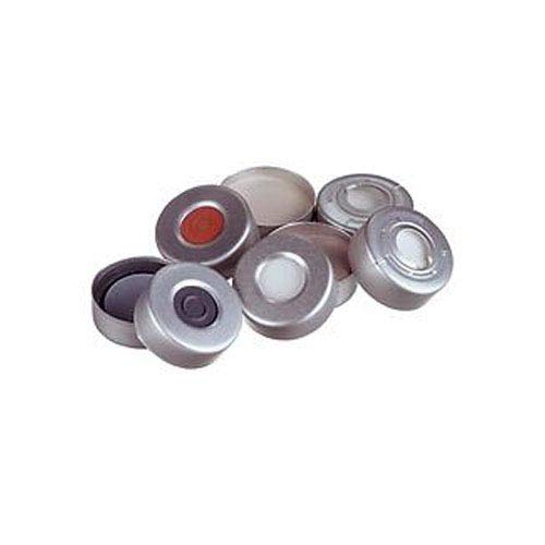 National Scientific C4020-36AP 20 mm de liberación de presión sello de crimpado con septa insertada, gris PTFE/negro butilo de goma Pharmafix moldeado septo (caja de 1000)