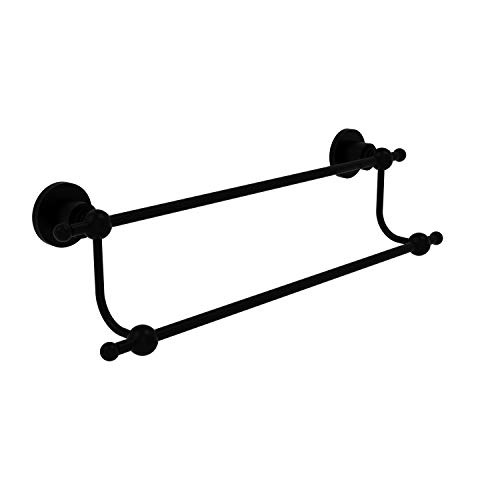 Allied Brass AP-72/36 Astor Place Collection 36 Inch Double Towel Bar, Matte Black