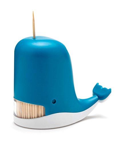 PELEG DESIGN Jonah Toothpick Dispenser Whale Toothpick Dispenser Funny Portable Plastic Toothpick Holder