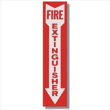 Vinyl Self-adhesive Fire Extinguisher Arrow Sign - 4