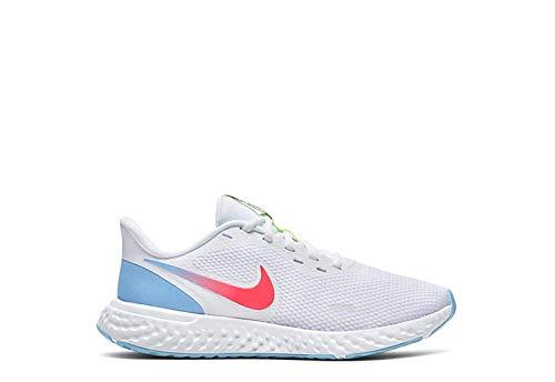 Nike Womens Revolution 5 Running Shoe Sneakers - White/Multi 8 B (M)