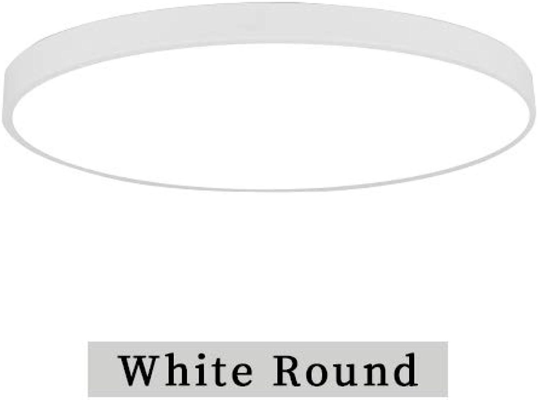 LED-Kronleuchter-modernes rundes Hauptfernsteuerungsluxus für Wohnzimmer Schlafzimmer-Studie 220V an der Oberflche befestigte Beleuchtungsbefestigung, weie Runde, 40cm 40cm, warmes Wei