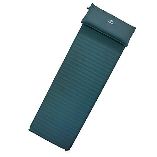 outdoorer Selbstaufblasbare Isomatte XXL Trek Bed Flex, 5 cm, leicht, mit abnehmbarem 7,5cm Kopfkissen, selbstaufblasend
