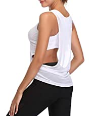 Hawiton Camiseta Deportiva para Mujer sin Mangas Chaleco Ligero de Malla Camiseta de Tirantes para Running,Fitness,Yoga