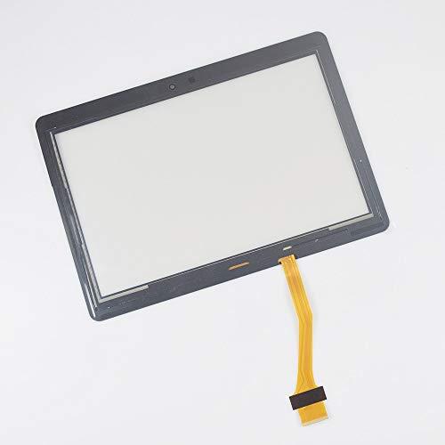 Monitor de Pantalla Plana 10.1 '' Reemplazo/Ajuste for Samsung Galaxy Tab 2 GT-P5100 P5100 P5110 N8000 Panel de Pantalla táctil Montaje digitalizador de Vidrio Frontal (Color : Black)