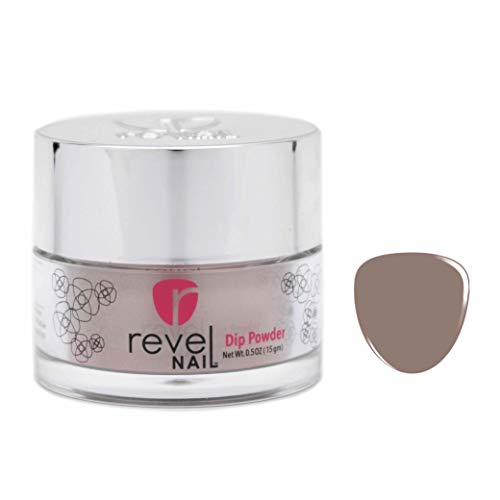 Revel Nail Dip Powder | for Manicures | Nail Polish Alternative | Non-Toxic, Odor-Free | Crack & Chip Resistant | Vegan, Cruelty-Free | Can Last Up to 8 Weeks | 0.5oz Jar | Revel Mate | Shady