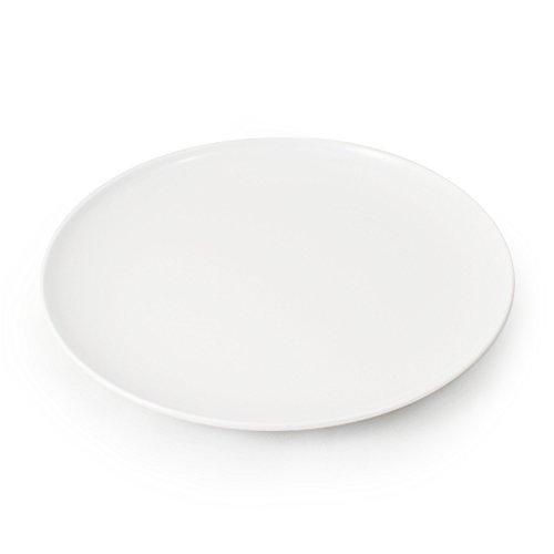 CARTAFFINI – Plat Coupe en mélamine, ø 24 cm – Blanc Optique