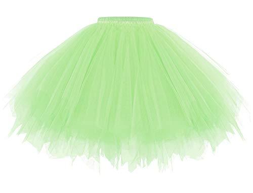 1950 Rockabilly Jupon Menthe Retro Vintage Petticoat Tutu Swing Taille 32 48 Jupe Mini Femme Tulle Volume Danse Bal en Costume Mint XL