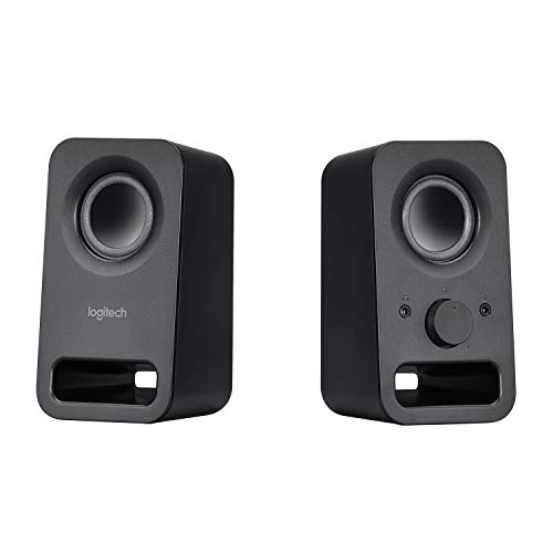Logitech Z150 Compact Multimedia Stereo Speakers, 3.5mm Audio Input,...