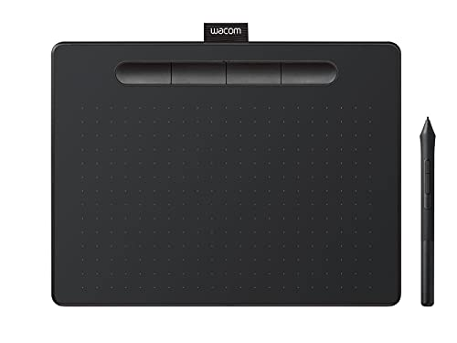 Wacom Intuos Small Tableta Gráfica Bluetooth - tablet para dibujar, pintar, editar fotos con lápiz sensible a la presión negro - óptima para la educación en línea y el teletrabajo