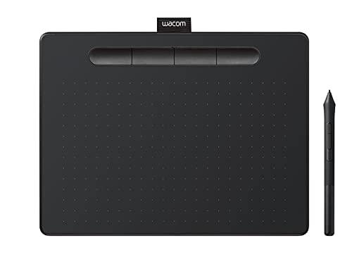 Wacom Intuos Small Tableta Gráfica - tablet para dibujar, pintar, editar fotos tos con lápiz sensible a la presión negro - óptima para la educación en línea y el teletrabajo