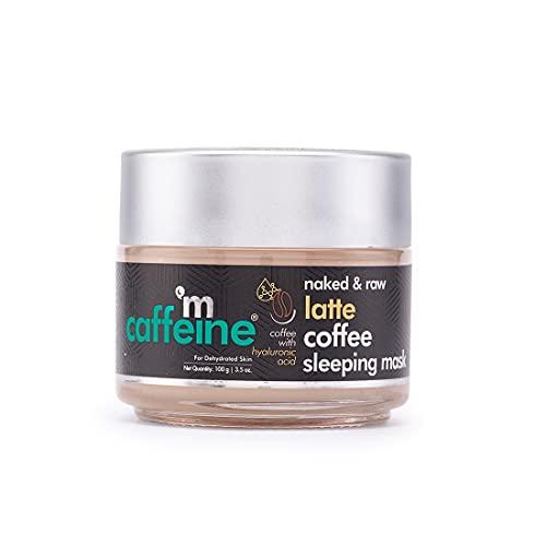 mCaffeine Latte Coffee Sleeping Face Mask, Night Cream   Hydration, Skin Repair   Hyaluronic Acid, Niacinamide   For Dehydrated Skin   Paraben & Cruelty Free   100 gm